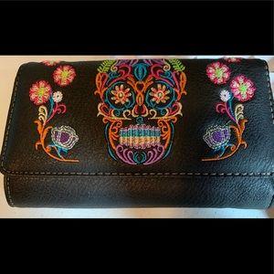 Handbags - Sugar Skull Crossbody Wallet